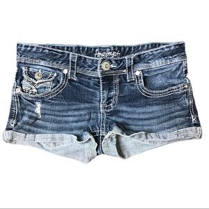 Amethyst Distressed Jean Shorts Size 3